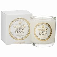 Voluspa Maison Blanc Collection Suede Blanc